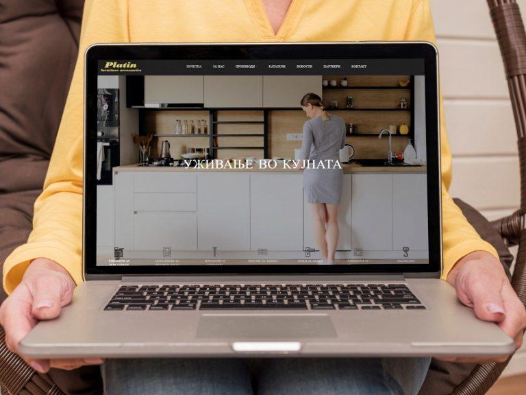 Веб-страница platin.com.mk